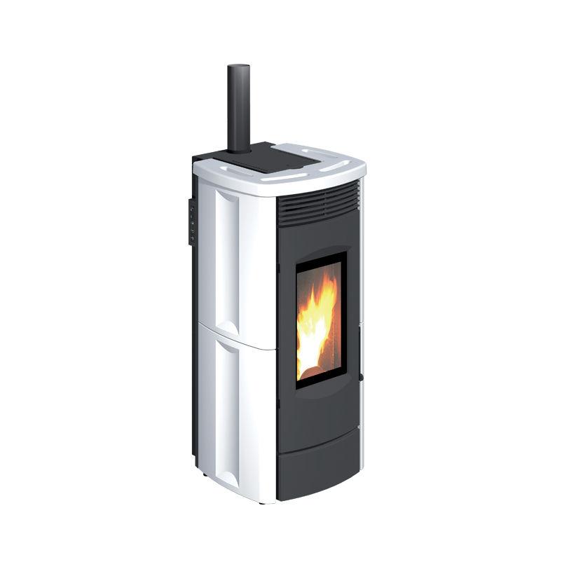 Stufe a Pellet aria calda ventilata con uscita fumi integrata CLASSIC-2 8kW