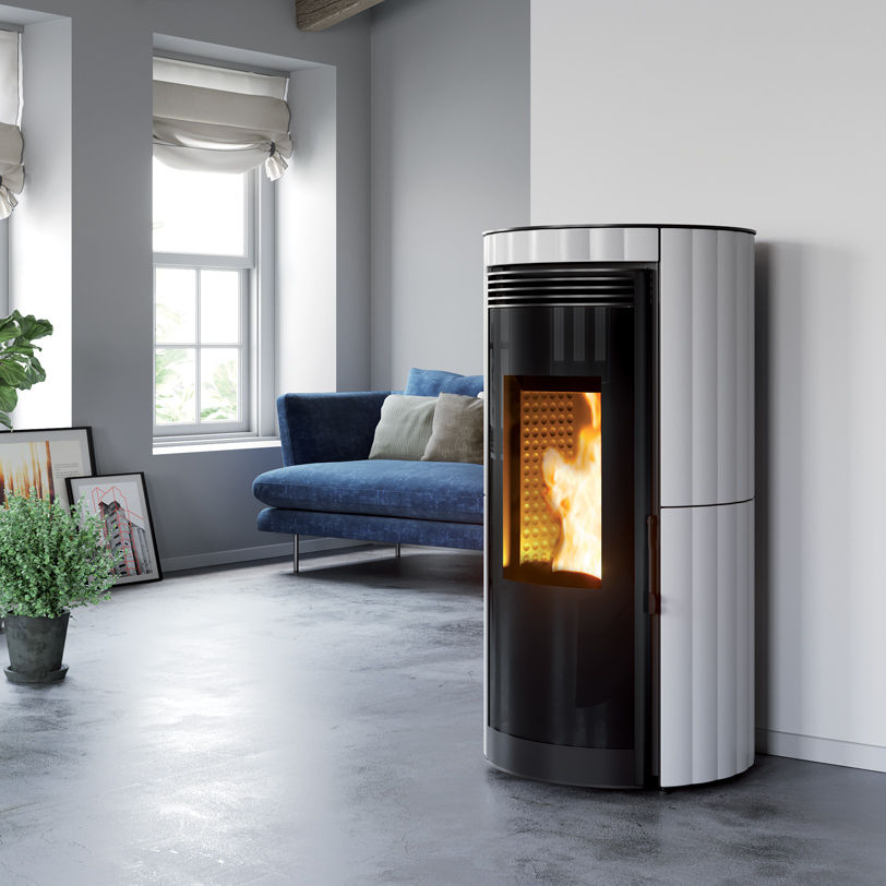 Stufe a Pellet ermetiche ad aria calda ventilata GLOBUS 6kW 9kW