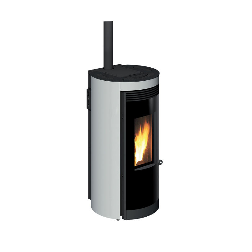 Stufe a Pellet aria calda ventilata con uscita fumi integrata RADIUS 8kW